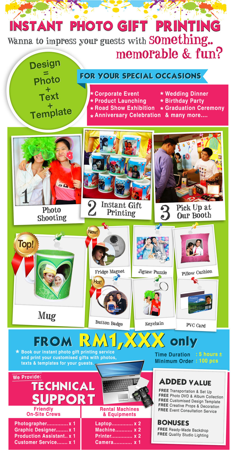 Instant Photo Gift Printing